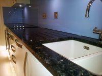 Granite kitchen worktops and glass splashbacks in Euston
