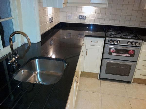 Black Granite Kitchen Worktop : Black Granite Kitchen Worktops in St. Johns
