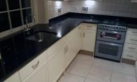 Black Granite Kitchen Worktops in St. Johns