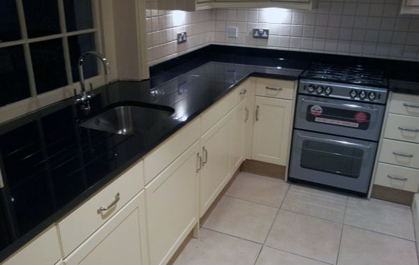 Black Granite Kitchen Worktops in St. Johns