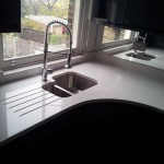 White Quartz Kitchn Worktops